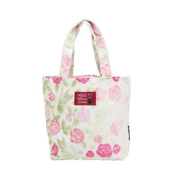 【真愛日本】17052400029 戈布蘭織橫式手提袋-玫瑰花綠 魔女宅急便 黑貓 奇奇貓  手提袋  側背袋 正品
