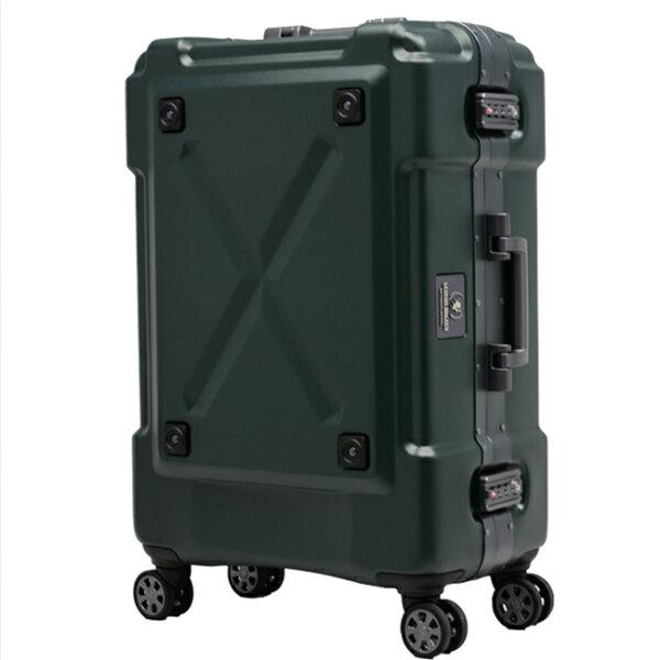 日本LEGENDWALKER6302-69-28吋鋁框密碼鎖輕量行李箱消光綠