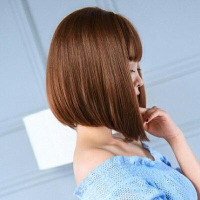 假髮整頂假髮長假髮-時尚微彎修臉齊瀏海女配件4色73ej61【獨家進口】【米蘭精品】