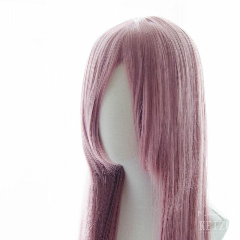 【凱茲工坊】 基礎系假髮 ● 80cm長直髮 ● 煙堇粉|COSPLAY假髮|基本款|高溫絲|現貨