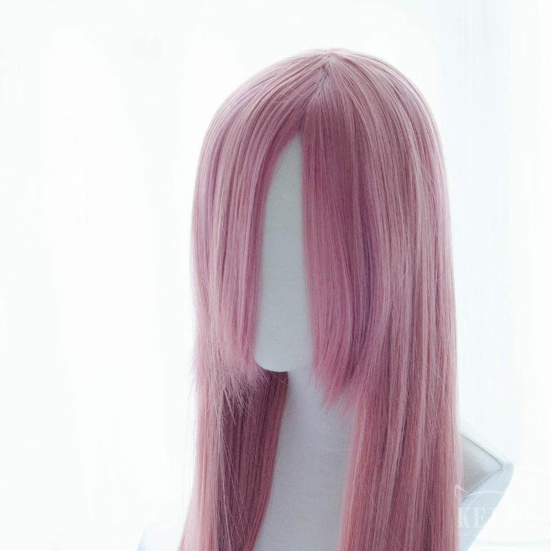 <br/><br/> 【凱茲工坊】 基礎系假髮 ● 80cm長直髮 ● 桃粉|COSPLAY假髮|基本款|高溫絲|現貨<br/><br/>