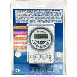"""FRONTIER TM-6331S 微電腦數位式定時器 最小單位""""秒"""" 110V / 220V皆適用工業家庭兩相宜 電壓輸出 - 限時優惠好康折扣"""