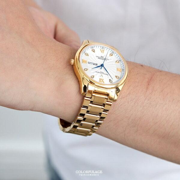 范倫鐵諾˙古柏水鑽不鏽鋼金錶正品原廠公司貨【NEV39】柒彩年代
