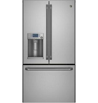 【得意家电】美国 GE 奇异 CYE22TSSS 不锈钢法式三门薄型冰箱(700L) ※热线07-7428010