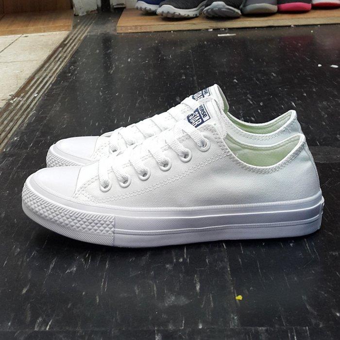 Converse Chuck Taylor All Star II 2代 低筒 白色 帆布 LUNARLON 鞋墊 150154C