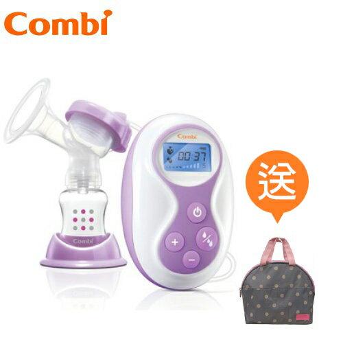 【贈自然吸韻點點手提袋】日本【Combi】自然吸韻手電動二合一吸乳器