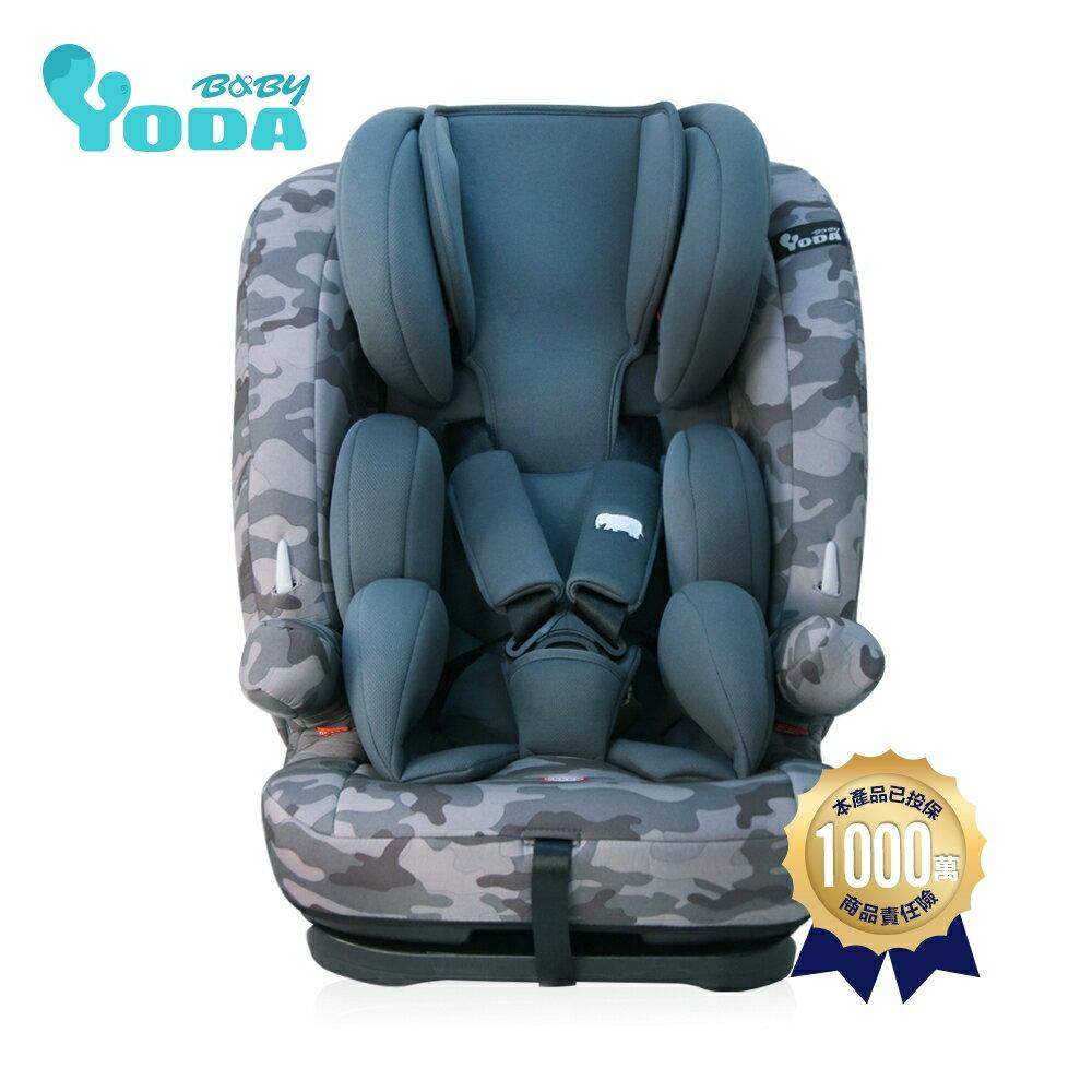 麗嬰兒童玩具館~YODA優寶貝-成長型兒童安全座椅1-12歲.五點式安全帶.可調頭枕高低(貴族紅 / 雅仕藍 / 尊爵灰) 0