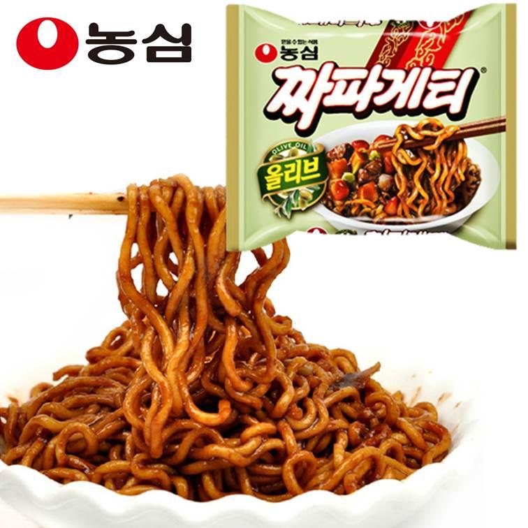 韓國進口 農心浣熊橄欖油炸醬麵 干拌麵 140g 單包 ??? ????