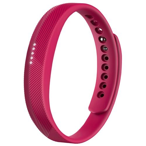 "Fitbit Flex 2 Smart Band - Wrist - Accelerometer - Silent Alarm, Alarm, Text Messaging - Sleep Quality, Calories Burned, Steps Taken, Distance Traveled - Bluetooth - Bluetooth 4.0 - GPS - 120 Hour - 0.44"" - Magenta - Elastomer, Stainless Steel Clasp - Swi 0"