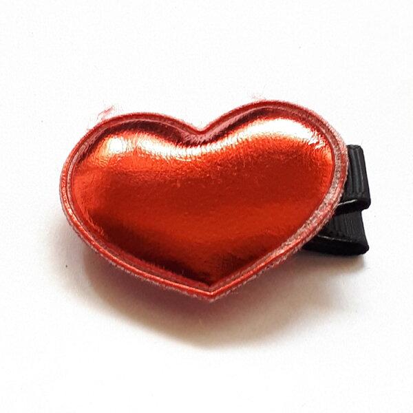 全包布髮夾.嬰兒髮夾AB5001-17紅色愛心鴨嘴夾瀏海夾日韓髮飾頭飾王子與公主