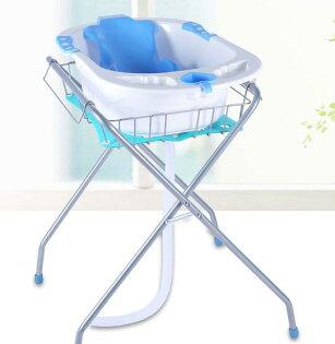 【嬰兒浴盆+浴盆支架】可站著為寶寶洗澡不彎腰《下標完成付款後7天到貨》