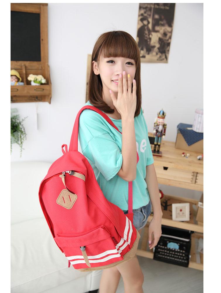 【豬鼻後背包】 韓版流行後背包 學院風旅行包 書包  時尚玩包