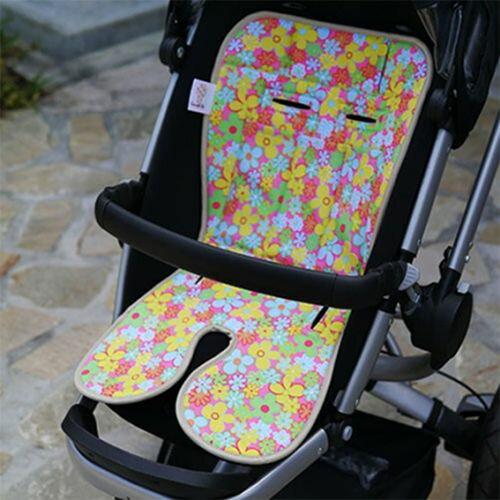 ★衛立兒生活館★Baby Seater嬰兒專用涼感墊推車涼墊(馬卡花)+日本專利保冰袋
