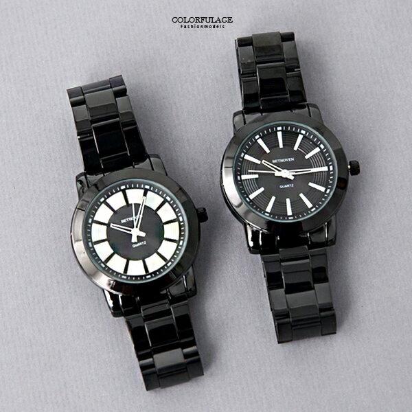 手錶 獨特唱盤設計對錶 不鏽鋼腕錶 柒彩年代【NE1996】單支