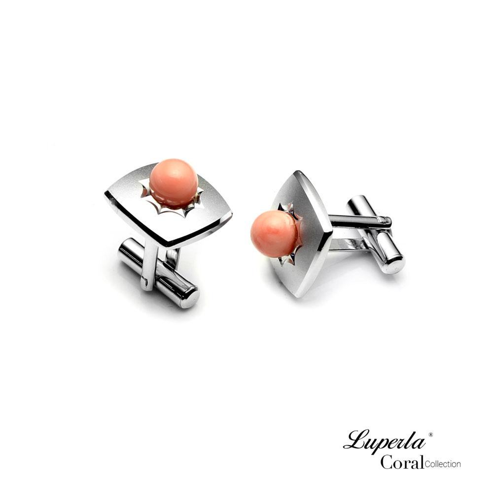 大東山珠寶 自我宣言 仕紳系列 天然粉珊瑚  西裝領徽 袖扣 3