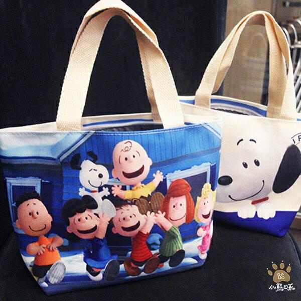 小熊日系* 史努比小提袋,拉鍊手提袋購物袋外出包萬用袋收納袋便當袋Snoopy
