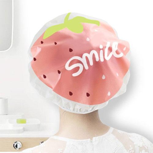 可愛卡通水果浴帽洗澡淋浴帽防油煙防水洗澡帽大人小孩都適用
