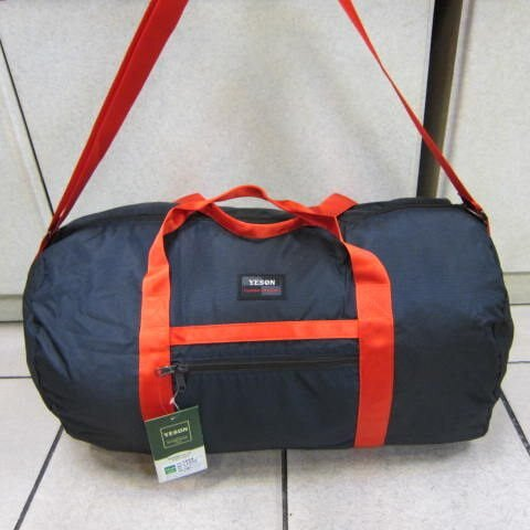 ~雪黛屋~YESON 折疊收納圓筒旅行袋超輕防水尼龍布材質收納環保購物袋可外掛行李箱F668深藍
