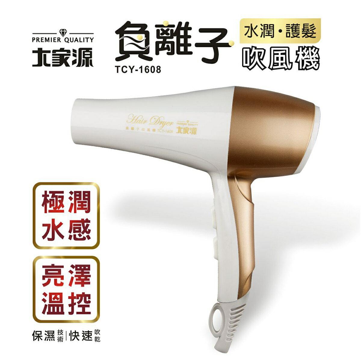 大家源 負離子水潤護髮吹風機 TCY-1608