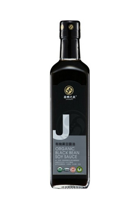 喜樂之泉 有機黑豆醬油 210ml/瓶