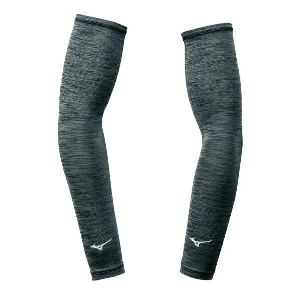 32TY8G0309(灰黑)抗紫外線、防曬必備彈性麻花布袖套【美津濃MIZUNO】