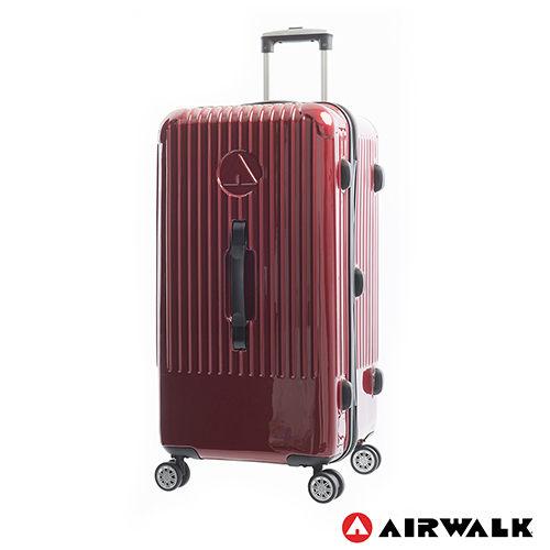 AIRWALK LUGGAGE - 【禾雅】旗艦系列 方塊之舞28吋大行李箱 - 紅