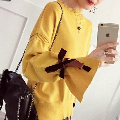 針織毛衣半高領打底衫-韓版時尚熱銷喇叭袖女罩衫4色73tp15【獨家進口】【米蘭精品】