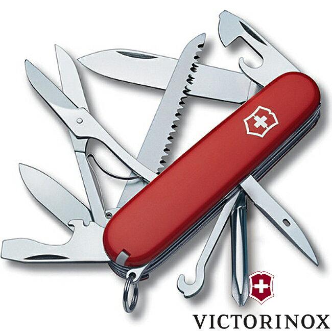 【【蘋果戶外】】victorinox 1.4713【經典紅/15功能/91mm】FIELDMASTER 十五功能瑞士刀工具組 瑞士維氏不鏽鋼軍刀/戶外救急工具刀