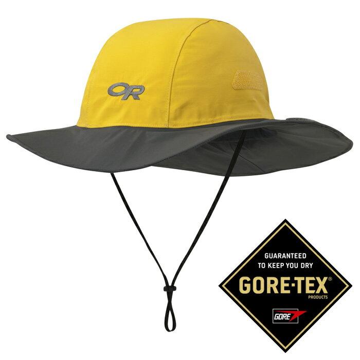 【Outdoor Research 美國】Seattle Sombrero GTX 防水圓盤帽 Gore-Tex 登山帽 防曬帽 遮陽帽 黃/深灰 (243505-0498)