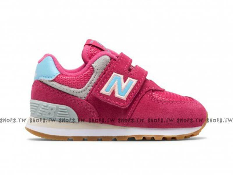 Shoestw【IV574SC】NEW BALANCE NB574 小童鞋 運動鞋 桃紅 水藍N 1