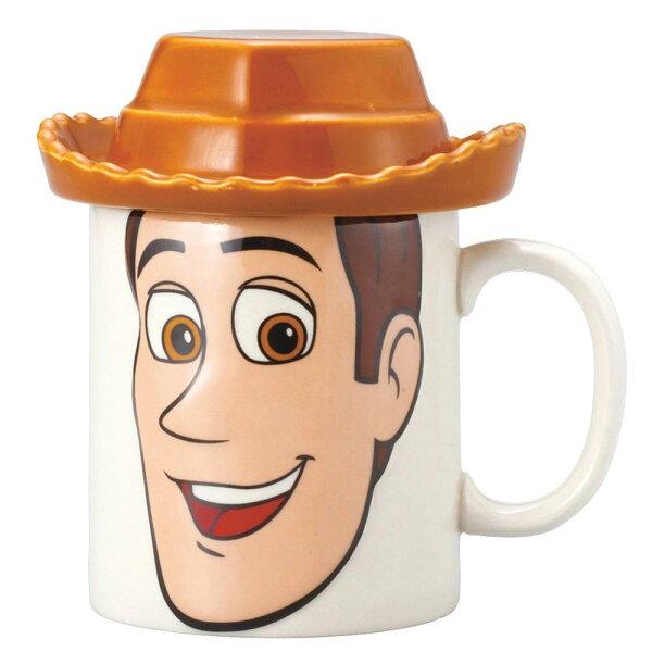 【真愛日本】15010200009造型馬克杯附蓋-胡迪迪士尼胡迪玩具總動員馬克杯水杯杯子單耳杯瓷製