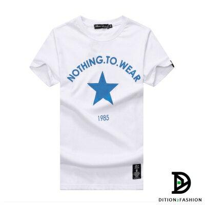DITION 韓系星星STAR 1985運動合身短T 情侶裝 1