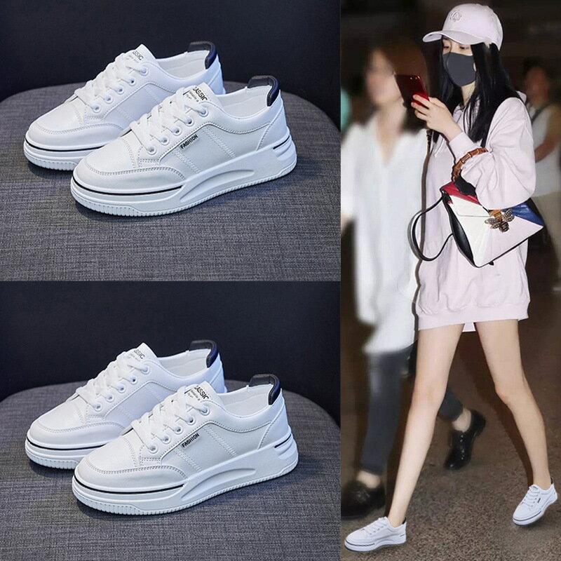 ins小白鞋女2021秋季新款學生韓版板鞋女跑步街拍休閒鞋厚底2159