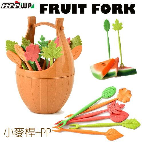環保木桶水果叉(16支叉子+木桶組)D823