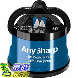 [106美國直購] AnySharp Global Knife Sharpener with PowerGrip, Blue 藍色 磨刀器