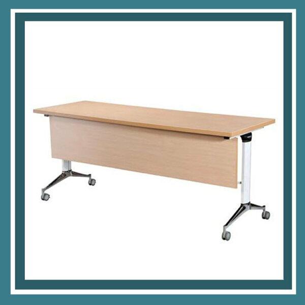『商款熱銷款』【辦公家具】LS-1860H櫸木紋鋁合金會議桌辦公桌書桌桌子
