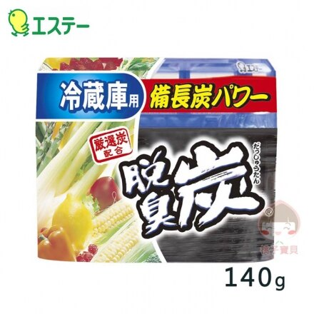【日本愛詩庭】雞仔牌 脫臭炭 冰箱冷藏室專用備長炭脫臭劑/除臭凝膠 140g‧日本製?桃子寶貝?