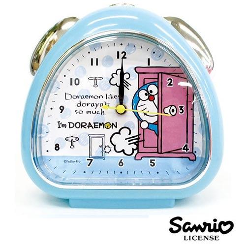 淺藍款【日本進口】哆啦a夢 DORAEMON 鬧鐘 造型鐘 指針時鐘 燈光設計 小叮噹 三麗鷗 Sanrio - 055104