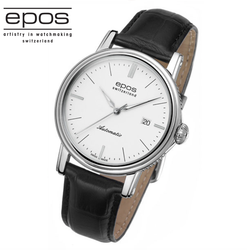 EPOS EMOTION 情感系列經典紳士機械腕錶 3390.152.20.10.25FB 白面/41mm