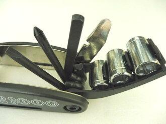 【硬化熱處理版】自行車用品13合1折疊工具組 自行車多功能工具單車工具組內外六角螺絲刀扳手組合裝備配件