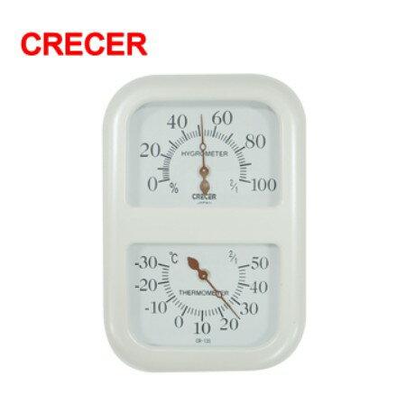 聯盟文具:日本CRECER溫濕度計CR-135(時鐘型)