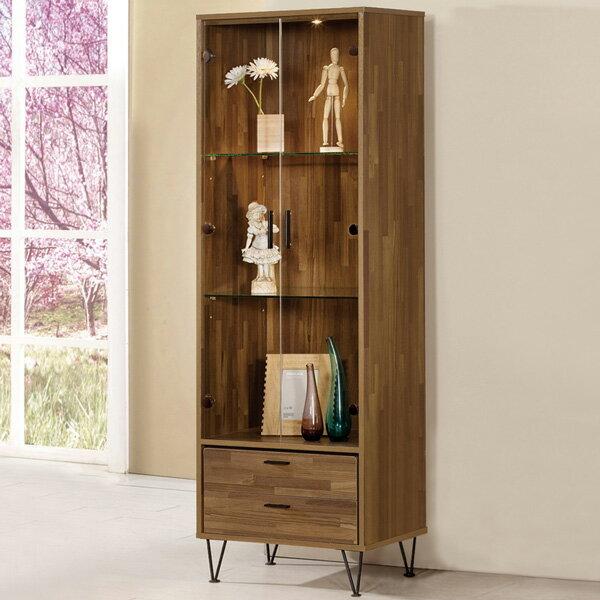 書櫃《Yostyle》溫斯頓2尺展示櫃有門書櫃大型書櫃櫥櫃展示櫃