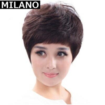 假髮整頂假髮短假髮~ 中老年微捲女 2色73em16~ ~~米蘭 ~