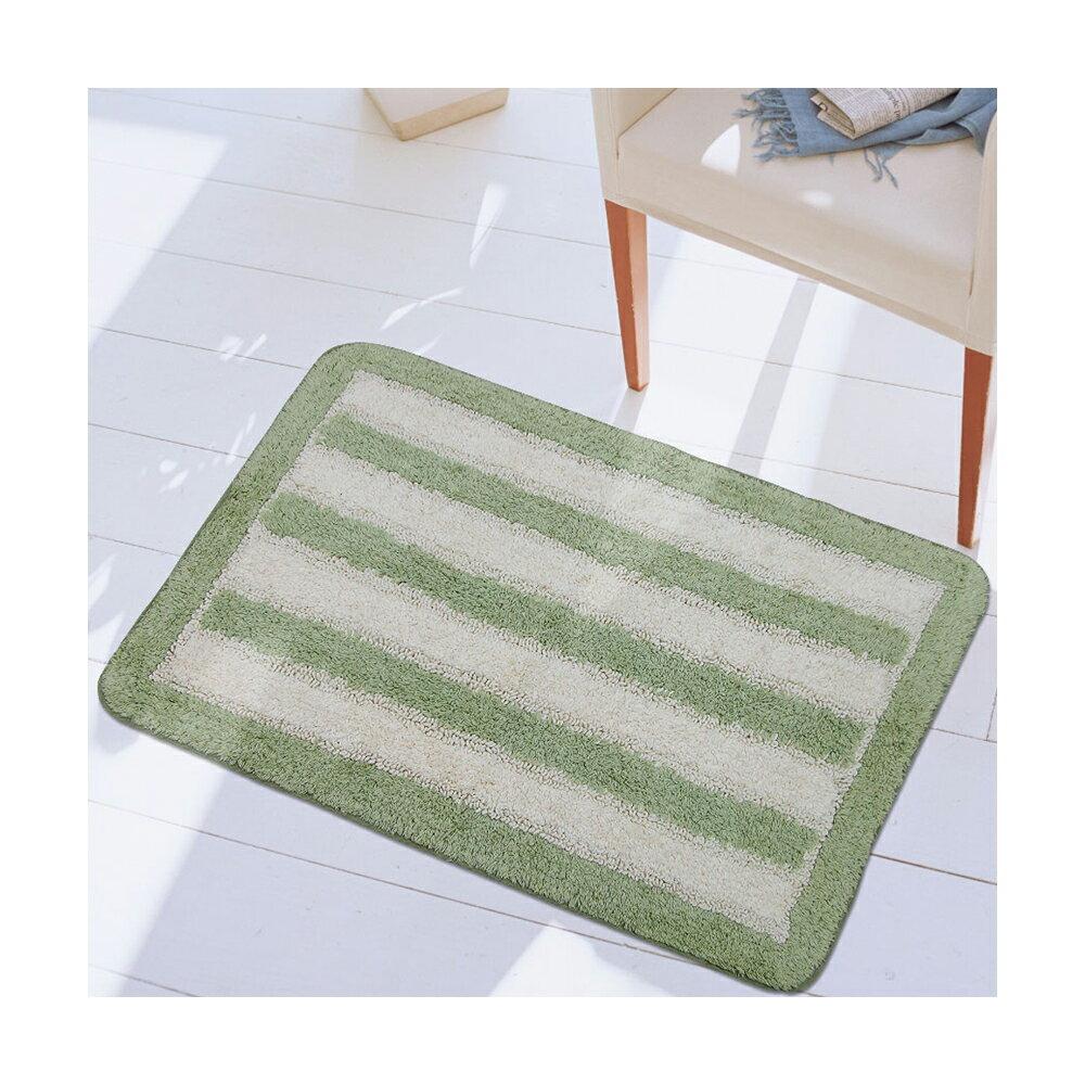 【華爾特】純棉提花踏墊-綠色(40x60cm)