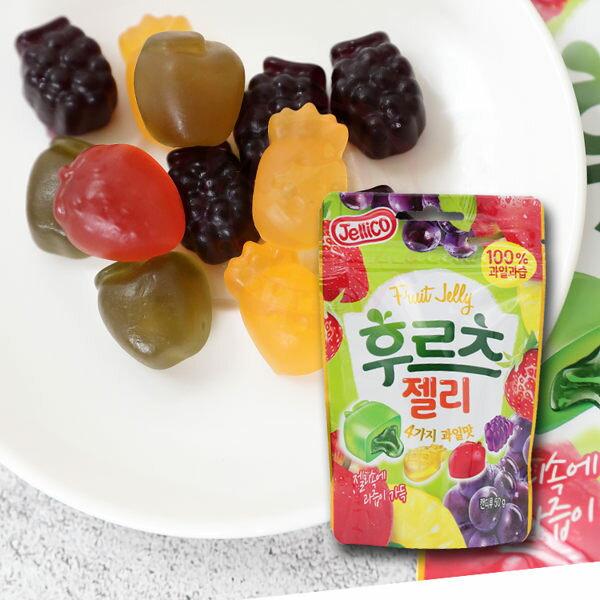 韓國jellico水果夾心軟糖50g【庫奇小舖】