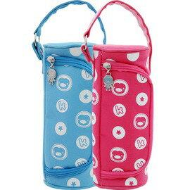 PUKU藍色企鵝 - 側開式保溫袋 (水藍/粉紅) 0