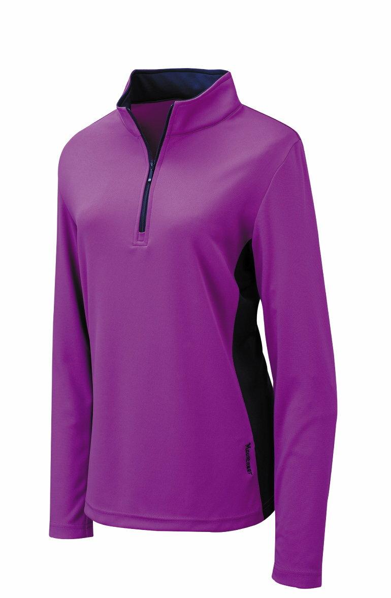 【【蘋果戶外】】山林 21P18-89 紫色 Mountneer 女 COOLMAX長袖上衣 透氣吸濕排汗衣 防曬 抗UV 彈性