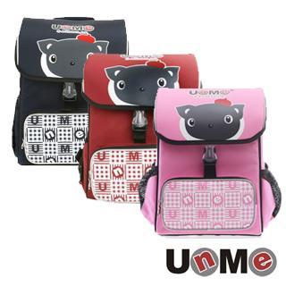 【送UNME餐袋】【UNME】 台灣製 兒童護脊書包 兒童書包 小學生書包 3093A 藍 紅 粉紅 三色