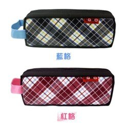 【UnMe】 英倫風 格紋 小學生筆袋 文具收納袋 鉛筆盒 3621