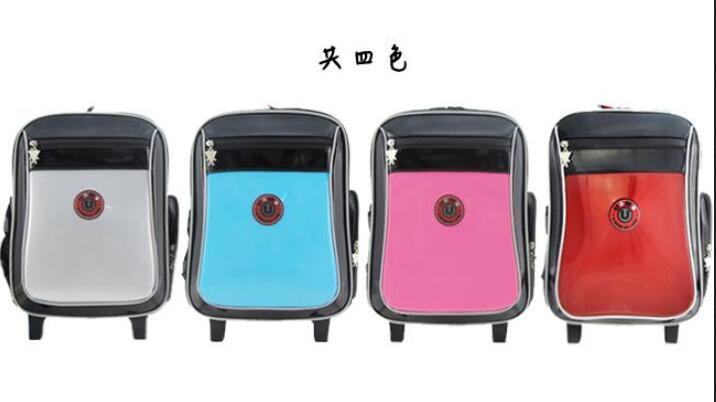 《熊熊先生》UnMe 台湾制造 3325 儿童拉杆书包 MIT儿童书包 小行李箱 附雨套 反光条设计
